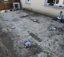 preparation des pieux beton