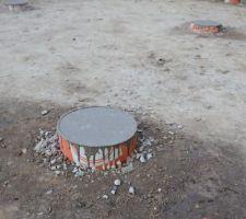coulage des pieux beton