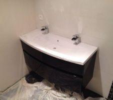 Notre salle de bain en cours