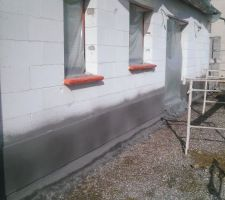 enduit gris clair carnac et gris fonce belfast de chez prb
