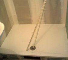 Le bas a douche en 140x90... toute la famille y tient !!!