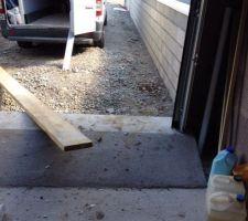 Tiens c'est quoi cette pente pour rentrer dans mon garage !