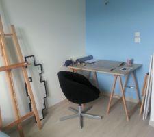 photos et id es bureau mur vert 75 photos. Black Bedroom Furniture Sets. Home Design Ideas