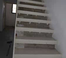 Ragréage escalier en béton