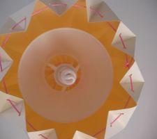 abat jour interieur de la lampe origami