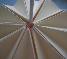partie haute de la lampe origami