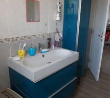 Meubles de salle de bain achetés et installés