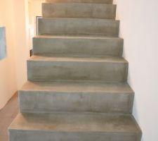 Escalier vernis après ragréage