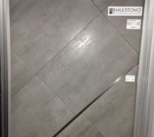Voici le carrelage que nous avons choisi pour tout le RDC   la salle de bain de l'étage. Nous hésitons encore entre le 37x60 et le 60x60.