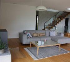 Nouveau canapé et nouvelle table de salon