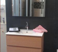 meuble vasque choisi pour la salle d eau parentale il est a noter que la couleur sera laquee blanche
