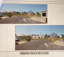 Intégration maison sur le terrain vue Est