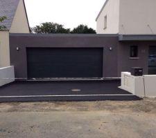 Voie d'accès garage