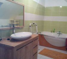 Salle de bain finie.... sauf petite finitions... (seuil porte et butoire)