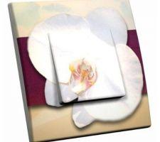Interrupteur décoré Orchidée pour notre chambre