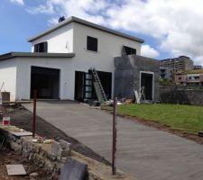 beton d acces au garage