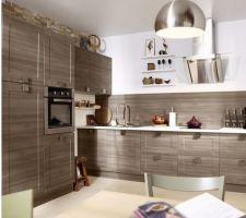 Voilà le modèle de cuisine que nous avons finalement choisi: Karrey chêne blanchi.... - pas un coup de coeur (notre coup de coeur dépasse allègrement le budget...), mais elle ira bien avec le reste de la déco ;-)