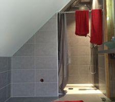 j ai peint le mur derriere notre lit en rouge velours