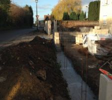 Mur en construction