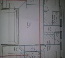 Première esquisse de notre maison, quelques détails à modifier mais ce la ne devrait pas beaucoup changer.