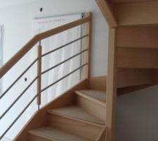 les wc seront sont l escalier