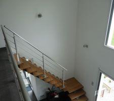 Eclairage escalier .