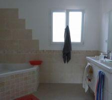 La salle de bains inaugurée ;-)