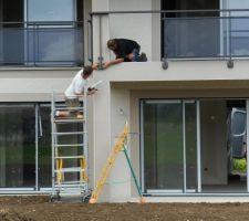 Pose garde-corps balcon