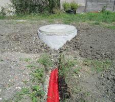 gaine 75mm et 90mm pour passer les gaines electriques pre filee et les tuyaux de liaison entre les puisards et la cuve de recuperation d eau