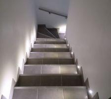Carrelage dans l escalier