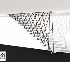 Voici quelques propositions d'escaliers qu'un ami artisan me propose... Le choix est difficile.