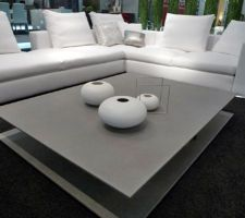 table basse beton cire gris clair 160 120doppio de triss