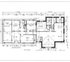 voici les plans de la maison une fois agrandit et renovee