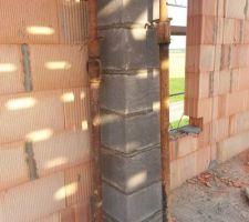 Installation du conduit de cheminée.