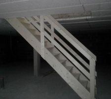 Le petit escalier sans prétention du sous sol