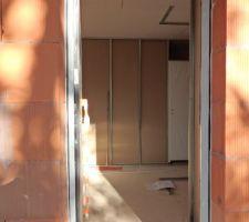 Porte d'entrée en Alu couleur ardoise