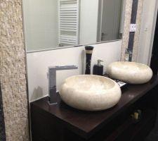 Remplacement des vasques terrazo par du marbre