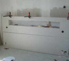 Fabrication de la tête de lit.