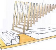 esquisse escalier
