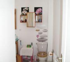 Fan de stickers - voici mes WC dans la SDB