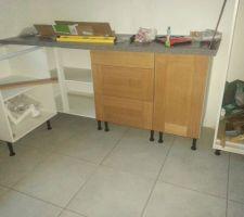 Assemblage des meubles et des façades