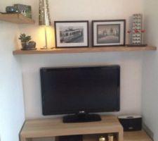 meuble tv fait par un menuisier