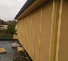 Isolation extérieure étage mur sud