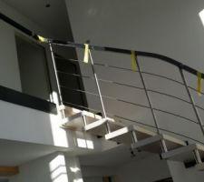 vue escalier garde corps