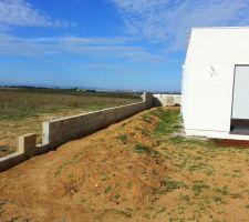 mur et muret ouest