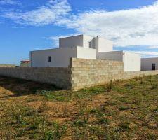 mur et muret prise de vue par nord ouest
