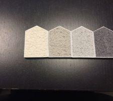 comment choisir la facade de sa maison avec ces echantillons loool le gris anthracite tt a droite sera a quelques endroits du crepi notamment les encadrements des fenetres laquelle autre couleur preferez vous