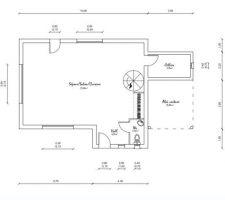 plan rdc de la maison