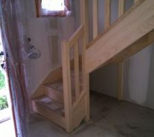 L ' escalier posé