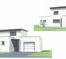 maison neuve moderne beton cellulaire